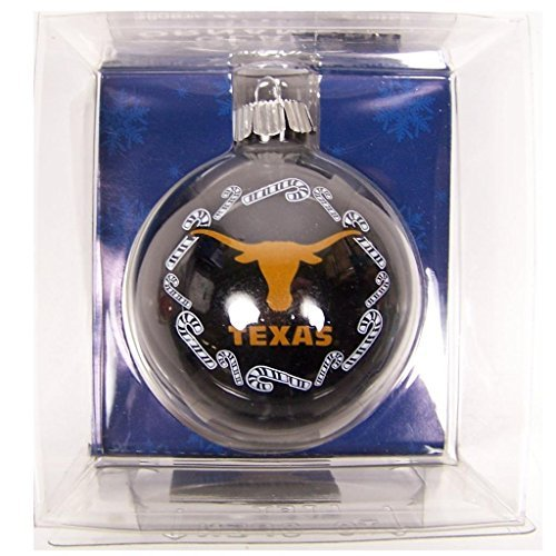 NCAA Texas Longhorns Traditional 2 5/8 Ornament Set in Primary and Secondary Team Color by Topperscot