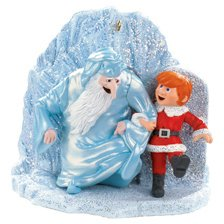 CHRIS & WINTER BY ICE CAVE 2008 CARLTON HEIRLOOM ORNAMENT