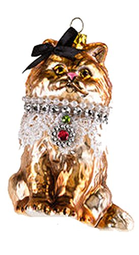 One Hundred 80 Degrees Cat Hanging Ornament (Black Bow)