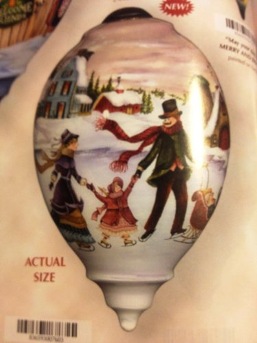 Ne'Qwa Art Winter Memories – New for 2012 – Glass Ornament Hand-Painted Reverse Painting Distinctive 760-NEQ