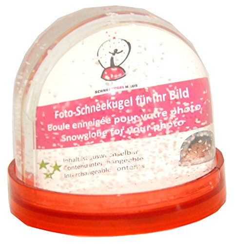 50006 Snowglobe For You – Do it Yourself DIY – Photo Snowglobe with red base and glitter (no snow)