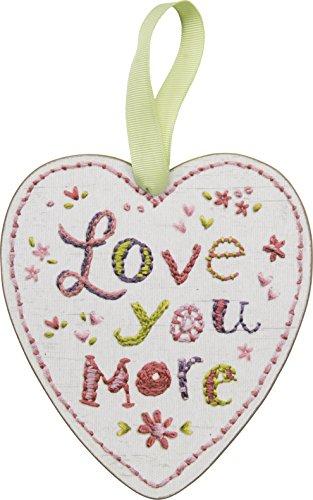 PBK Valentine's Day Decor Ornament Sign – Love You More Heart #26327