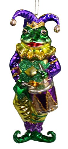 Midwest Mardis-Gras Frog Musician Ornament (Drums)