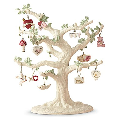 Lenox Valentine Be Mine Miniature Tree Ornaments Set of 12 Heart Dove Cupid NO TREE