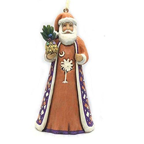 Jim Shore for Enesco Heartwood Creek SC Santa Orange Ornament, 4.53″