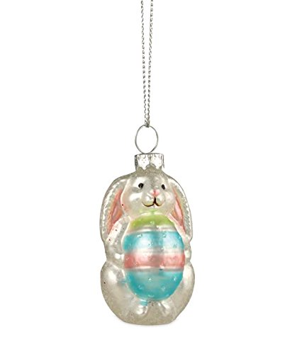 Bethany Lowe Easter Bunny With Egg Glass Ornament