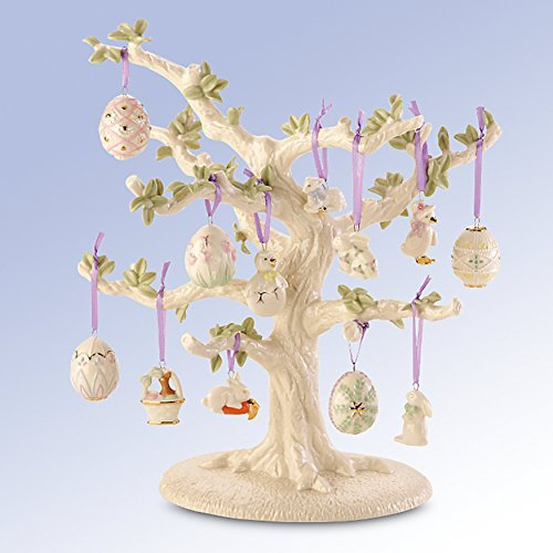 Lenox Easter Miniature Tree Ornaments Set of 12 Eggs Bunny Lamb Chick Ducks NO TREE