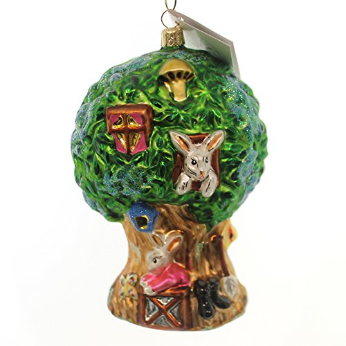 Christopher Radko HAPPY HIDEAWAY Glass Ornament Easter Bunny House 990660
