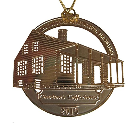 2010 Colonial Williamsburg Foundation 24K Gold Finished Christmas Ornament – Charltons Coffeehouse