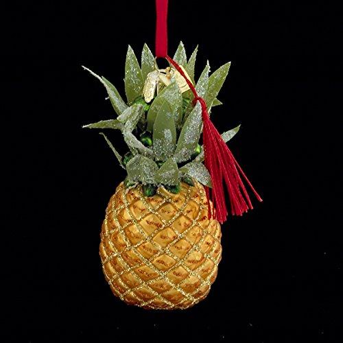 Kurt Adler 3.5″ Noble Gems Glass Pineapple Ornament