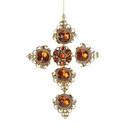 Christmas Ornament Jeweled Cross Ornament A