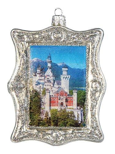 Neuschwanstein Castle Germany Polish Blown Glass Christmas Ornament Decoration