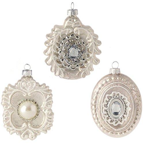 RAZ Imports – 3.5″ Jeweled Medallion Ornaments – Set of 3