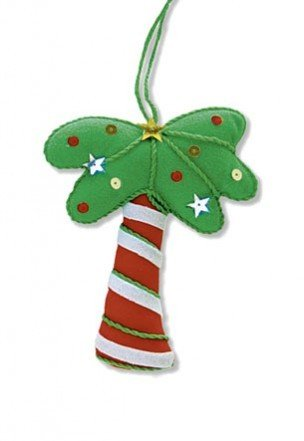 Hawaiian Holiday Palm Mele Ornament