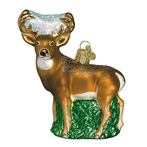 Old World Christmas Whitetail Deer Glass Blown Ornament