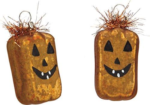 Halloween Glass Pumpkin Ornaments – Set of 6