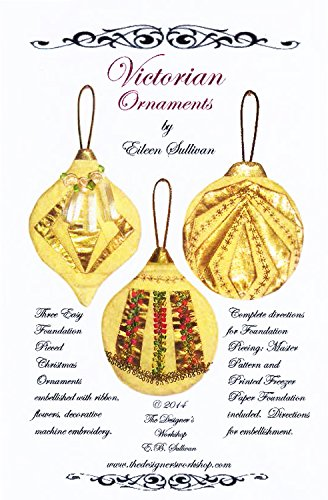 Victorian Ornaments – Foundation Paper Piecing Pattern – 3 Ornaments Patterns