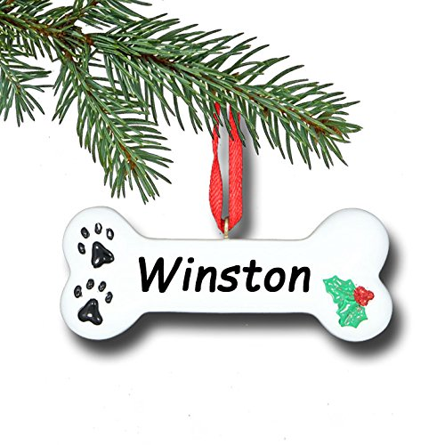 Personalized Dog Bone Christmas Ornament – 3 inches