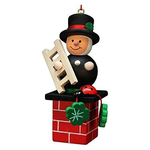 10-0579 – Christian Ulbricht Ornament – Sweep on Chimney – 3H x 1.5W x 1.5D by Alexander Taron Importer