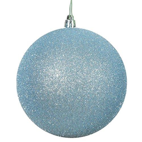 Vickerman 444306 – 4″ Baby Blue Glitter Ball Christmas Tree Ornament (6 pack) (N591032DG)