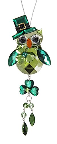 Ganz Crystal Expressions St. Patrick's Day Acrylic Lucky Owl Ornament ACRYV-11