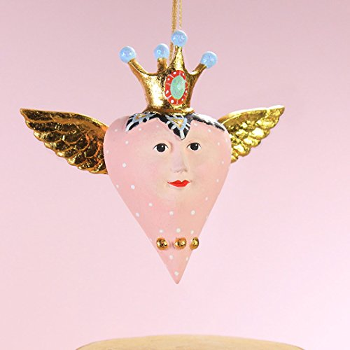 Patience Brewster Home Decor Mini Pink Heart With Wings Ornament
