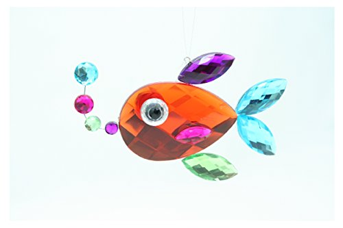 Ganz Crystal Expressions Acrylic 3″ Sea Life Ornament (Orange Fish)