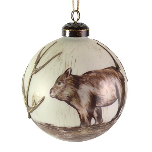 Sage & Co. 4″ Glass Bear Ornament