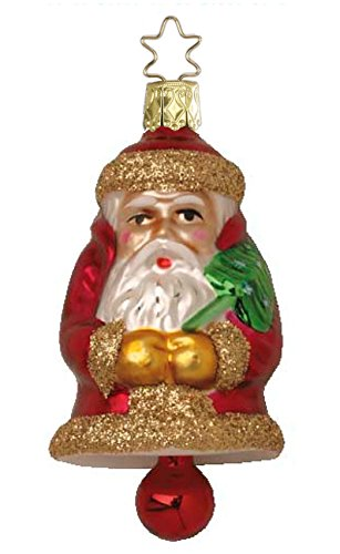 Father Christmas – Bell, #1-014-01, from the 2001 Tis The Season Collection by Inge-Glas; Gift Box Included