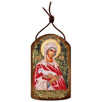 G. Debrekht Saint Agnia Icon Wooden Ornament