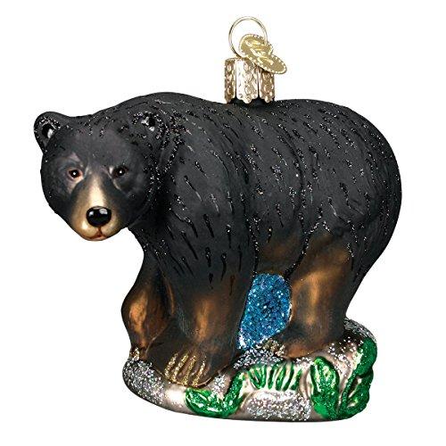 Old World Christmas Black Bear Glass Blown Ornament