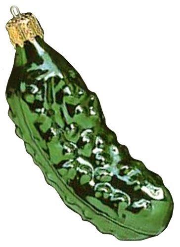Kurt Adler Hand Blown Old World Glass Pickle Ornament, Set of 2