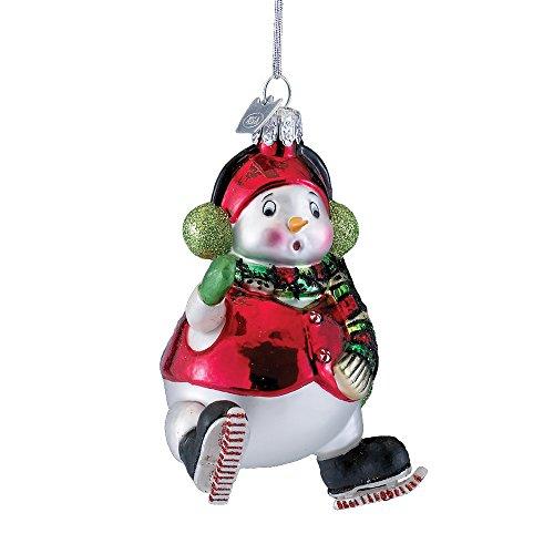Kurt Adler 4″ Noble Gems Glass Snowman Ornament