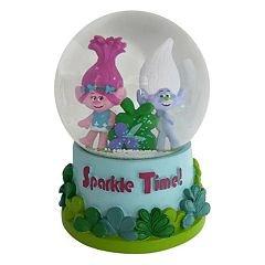 Dreamworks Trolls Poppy & Guy Diamond Musical Snow Globe