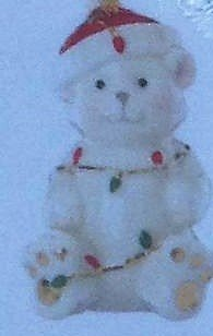 Lenox 868116 China Ornaments Tangled Christmas Bear