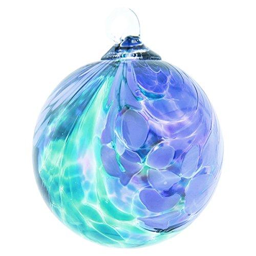 Glass Eye Studio Teal Fantasy Orchid Classic Ornament