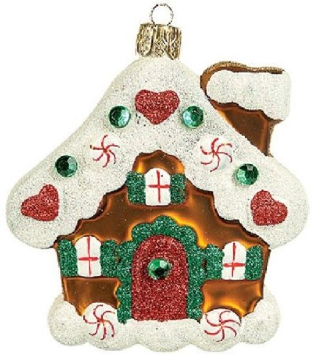 Gingerbread House Polish Glass Christmas Ornament Made in Poland Decoration
