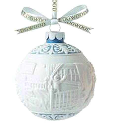 Wedgwood The Night Before Christmas Ball Ornament Blue & White NEW