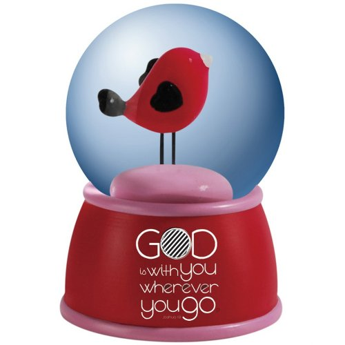 Westland Giftware Amylee Weeks Water Globe, 45mm, God be with You