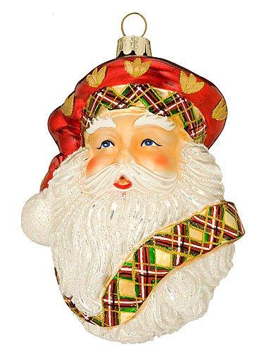 Waterford Christmas Ornament, Holiday Heirloom Tartan Santa