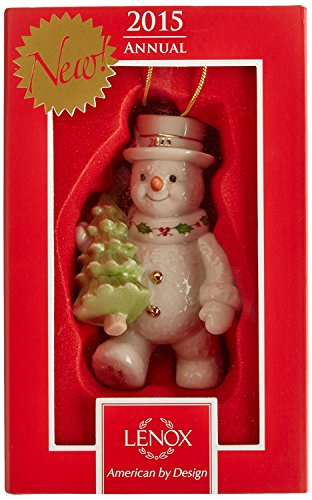 Lenox 2015 Happy Holidays Snowman China Ornament by Lenox