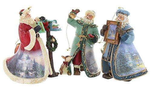 Thomas Kinkade Old World Santa Ornaments (Set of 3) Issue #21