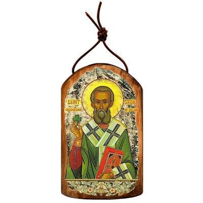 G. Debrekht Saint Patrick Icon Wooden Ornament