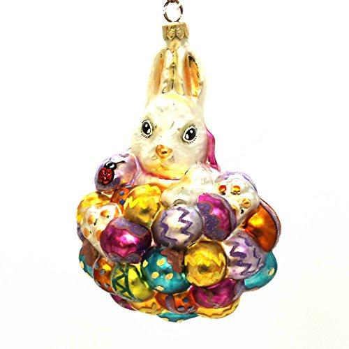 Christopher Radko HOPPY EASTER Glass Ornament Easter Eggs