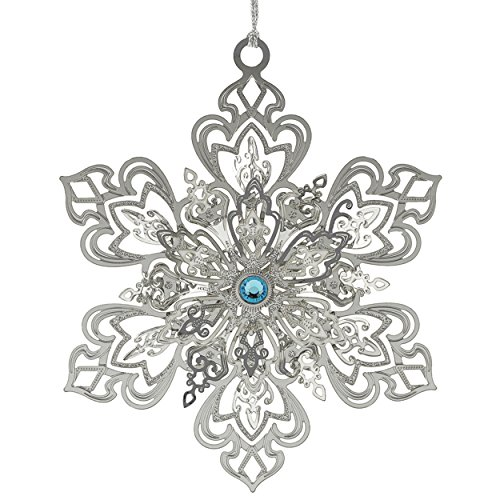 New 24K Gold Dazzling Snowflake Christmas Tree Ornament