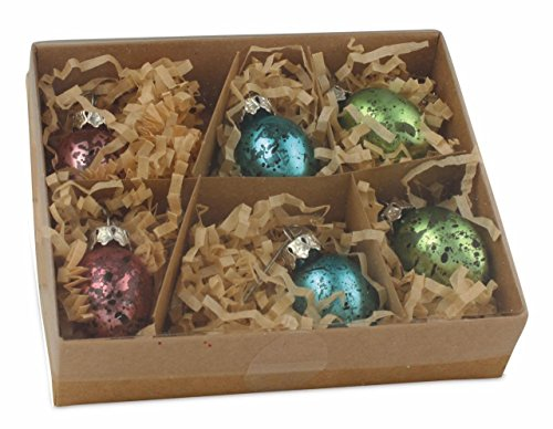 Bethany Lowe Pastel Mercury Glass Easter Egg Mini (1 1/4″) Ornament Set of 6