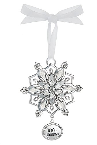 Ganz Snowflake Ornament – Baby's 1st Christmas
