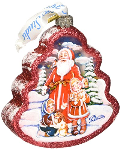 G. Debrekht Time to Share Tree Glass Ornament