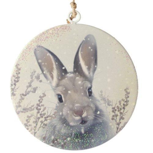 Rabbit Disc Ornament