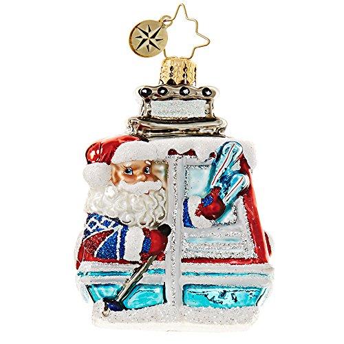 Christopher Radko Santa on the Slopes Little Gem Christmas Ornament
